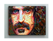 Framed Frank Zappa Face Abstract 8.5X11 Art Print Limited Edition w/signed COA