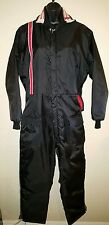 Vintage Sno King snowmobile suit black red white blue stripes. New! 70's.