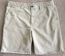 "Men's Haggar Beige, Flat Front, 5 Pocket, Cotton/Poly Shorts w/9.5"" Inseam-sz 40"