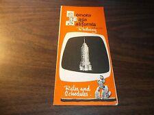 1972 SONORA BAJA RAILWAY MEXICO PUBLIC TIMETABLE