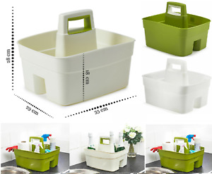 Handy Basket Kitchen Caddy Cutlery Handle Tidy Tray Organiser Cleaning Plastic