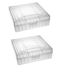 (2) X 22 lr Ammo Box / Case / Storage 100 Round .22Lr / .25 Acp (No Ammo) Clear