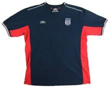 Umbro England Football Shirt Mens Size Large V Neck Red Blue Soccer Jersey