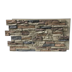 Faux Stone Siding Panel 48 in. x 24 in. Stacked Stone Nature Spirit Lightweight