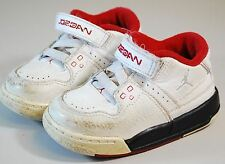 NIKE AIR JORDAN SNEAKERS SHOES KIDS BOYS SIZE 6C -  WHITE LEATHER STYLE 317823