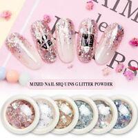 Mixed Nail Art Glitter Powder Sequins Broken Flakes 3D Charms Nail Decorations