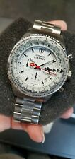 NEW- DETOMASO FIRENZE Mens Stainless Steel bracelet / White Dial Watch