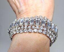 Weiss 5 rhinestone row bracelet