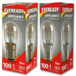 1 x Eveready 15w Fridge Appliance Sewing Machine Pygmy Bulb SES E14 SBC B15 240v