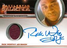 Battlestar Galactica Season 4 - AUTOGRAPH COSTUME Rick Worthy as Simon