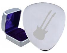 Twelve String Double Neck Steel Guitar Plectrum Pick Engraved in Box