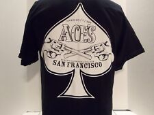 ACEs SAN FRANCISCO (NEW YORK) SPORTS BAR (ACE OF SPADES- GUNS)PROMO T-SHIRT- MED
