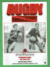 #Kk. Rugby Union Program - 27/9 1998, Randwick V Northern Suburbs