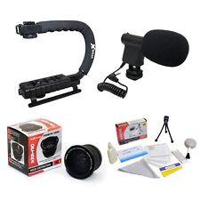 Opteka VM-8 Mini-Shotgun Microphone w/ Extreme .20x Super Fisheye Kit for Canon