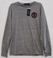 Polo Ralph Lauren Mens Gray Heather Polo Sportsman L/S T-Shirt NWT Size M