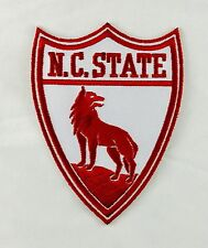 """NCSU NC North Carolina State Wolfpack Vintage Embroidered Iron On Patch 4"""" x 3"""""""