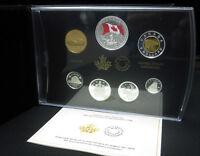 2015 Premium Proof Set 50th Ann Flag .9999 Silver Canada w/ Coloured Dollar