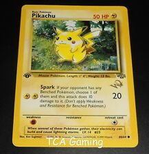 """1ST EDITION Pikachu 60/64 """"W"""" Gold Stamped WOTC Promo EXCELLENT Pokemon Card"""