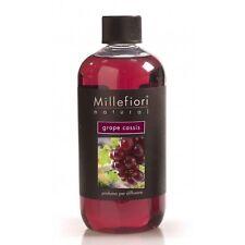 Millefiori Milano Natural Grape Cassis Refill per Diffusore 500 ml Rosso