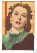 Hedy Lamarr -  Rare Old Movie Star Color Photo Card Look!