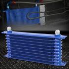 Aluminum Racing High Performance 11-row 10an Enginetransmission Oil Cooler Blue