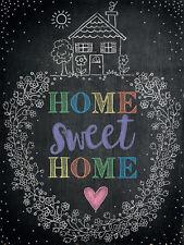 vintage style plaque murale en métal IMAGE Home Sweet décor cuisine cadeau