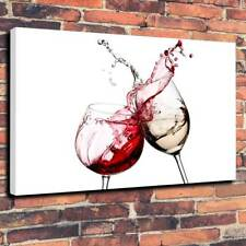 """Wine Glasses, Kitchen Dining Room Printed Canvas Picture A1.30""""x20"""" - Deep 30mm"""