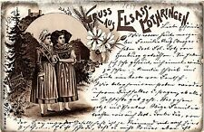 CPA  Gruss aus Elsass-Lothringen - Litho - Folklore - Types  (481518)