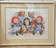 Raggedy Ann & Andy Framed Double Matted Behind Glass Katie's Friends Signed