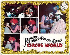 ORLANDO FL RINGLING BROS AND BARNUM-BAILEY CIRCUS WORLD~CLOWN FOR A DAY POSTCARD