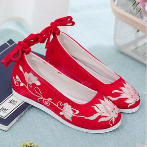 【BossyPom】Lotus Embroidery Shoes for Hanfu/ Qipao/ Cheongsam Dress