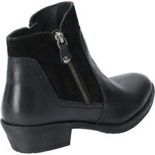 Hush Puppies Womens Isla Zip up Ankle Boot Black Size UK 8 EU 41