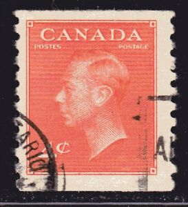 """1951 Canada SC# 310-King George VI-with """"Postes-Postage-Lot CU360-Used"""