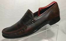 Cole Haan Nike Air Brown Leather Moc Toe Penny Casual Loafers Shoes Men's 10.5 M
