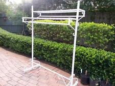 Strong Quality Iron Clothing Rack Two Shelves Rails Stand Home Shop DRS018-WHITE
