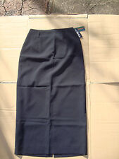 Ladies 'Bongardi' Navy Long SKIRT with Stretch - Size 10- free post