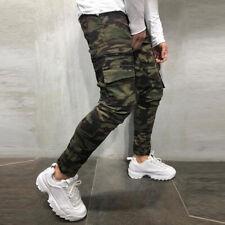 Men's Denim Ripped Distressed Jeans Skinny Pants Frayed Biker Slim Fit Trousers