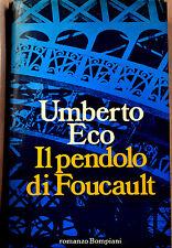 UMBERTO ECO: Il pendolo di Foucault - prima edizione 1988 Bompiani