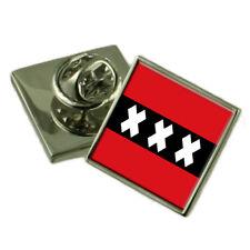 Amsterdam City Netherlands Flag Lapel Pin Engraved Box