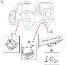 LAND ROVER GENUINE SIDE STEP ASSEMBLY REAR , Defender (L316) -2007 -STC7632