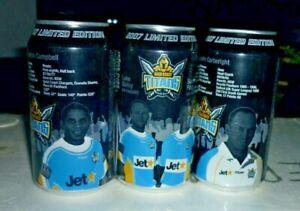 Collectable Coca Cola cans: Set of 3 Ltd Ed 2007 Coke Zero Gold Coast Titans