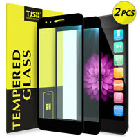 2-Pack TJS For [LG K10 2018/Phoenix Plus] Cover Tempered Glass Screen Protector