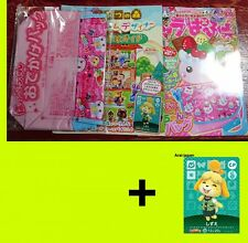 New Animal Crossing amiibo card Shizue CP + book + bag  Forest Happy Isabelle