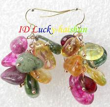Dangle Baroque MIX Multicolor crystal Earring 14K gold j8155