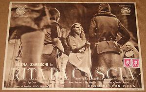 fotobusta film RITA DA CASCIA Elena Zareschi Ugo Sasso 1943