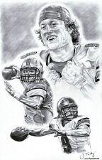 Matt Stafford Detroit Lions drawing poster picture ART