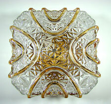 PAIR OF LIMBURG 60´s SQUARE TEXTURED SCONCE WALL/ FLUSH LAMP PLAFONIERE 1960´s
