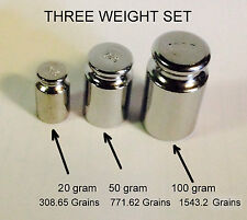 SCALE CALIBRATION AND TEST KIT 3 WEIGHTS 100G, 50G, 20 G