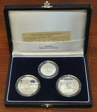 FRANCE - SILVER PROOF SET 3 COINS 1992 YEAR KM#1007,10,11 ANTARCTIC ANIMALS PS10