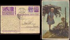 SWISS 1935 ILL.STATIONERY UPRATED 10c to INDIA+PESHAWAR